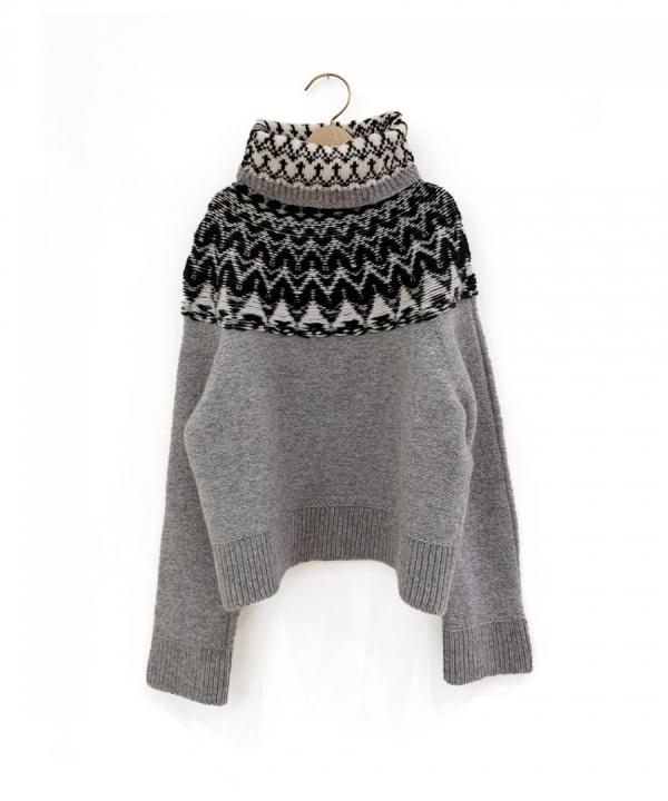 NORDIC CROPPED PULLOVER