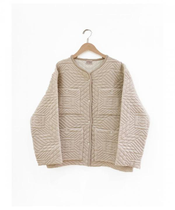 QUILT KNITTED JACKET
