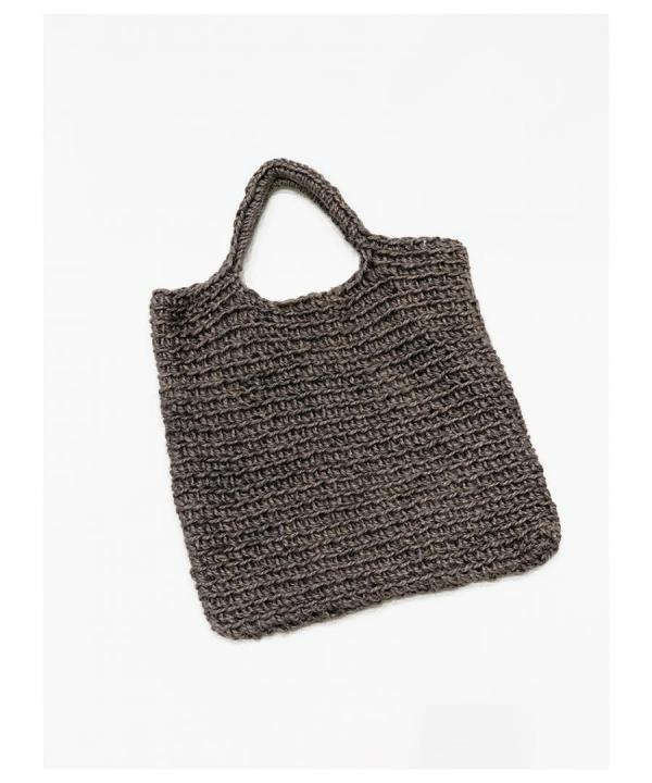 REVERSIBLE HAND-KNITTED TOTE BAG