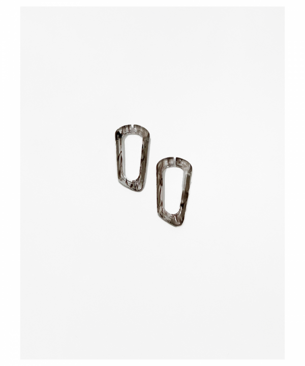 COMPOSITION Ear cuffs PHANTOM Marble brown
