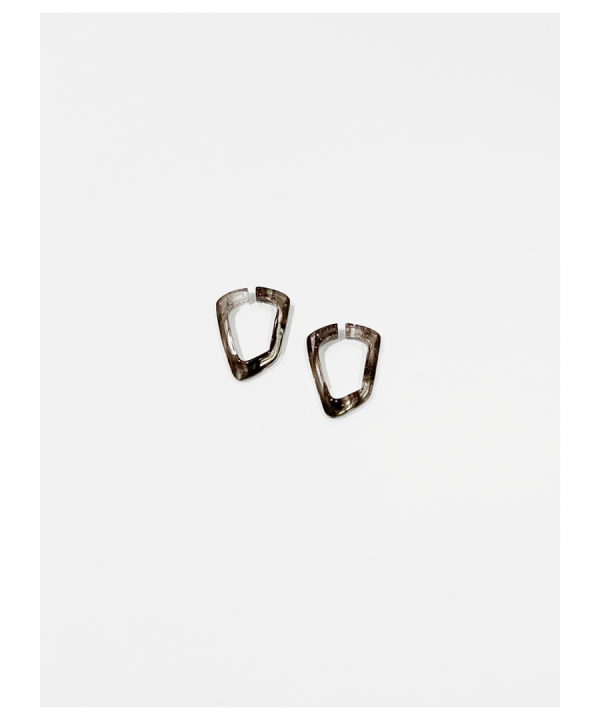 COMPOSITION Ear cuffs PHANTOM Marble brown mini