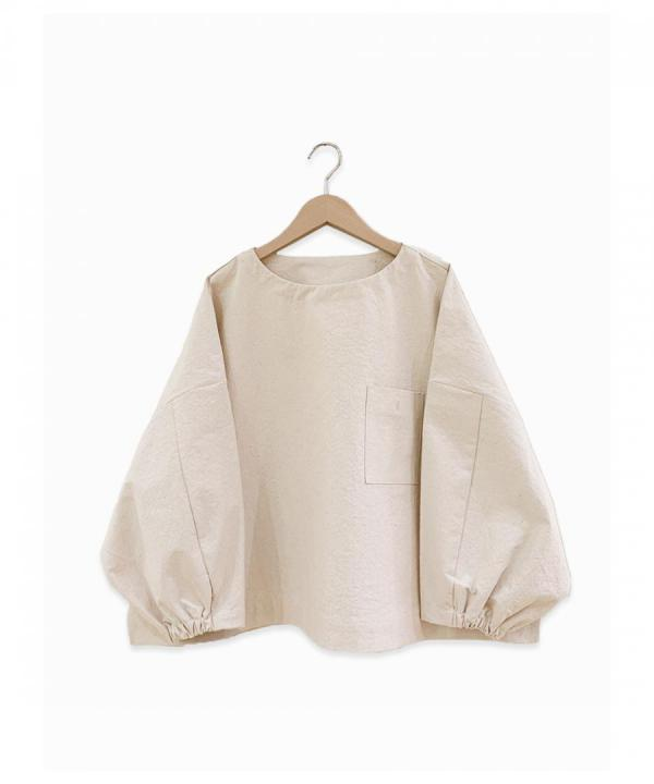 canvas big sleeve pullover
