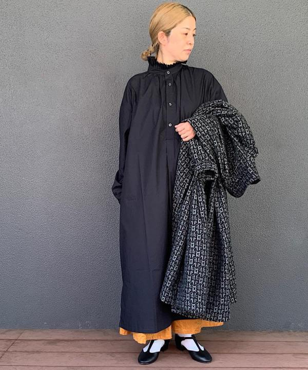 Pleated Collared Gather Dress
