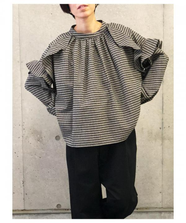 WAVES FRILL BLOUSE