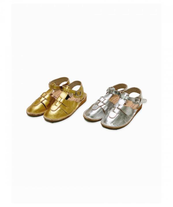 SHAKE CLOSED METALIC SANDAL