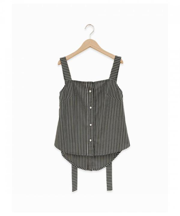 Button Strap Top