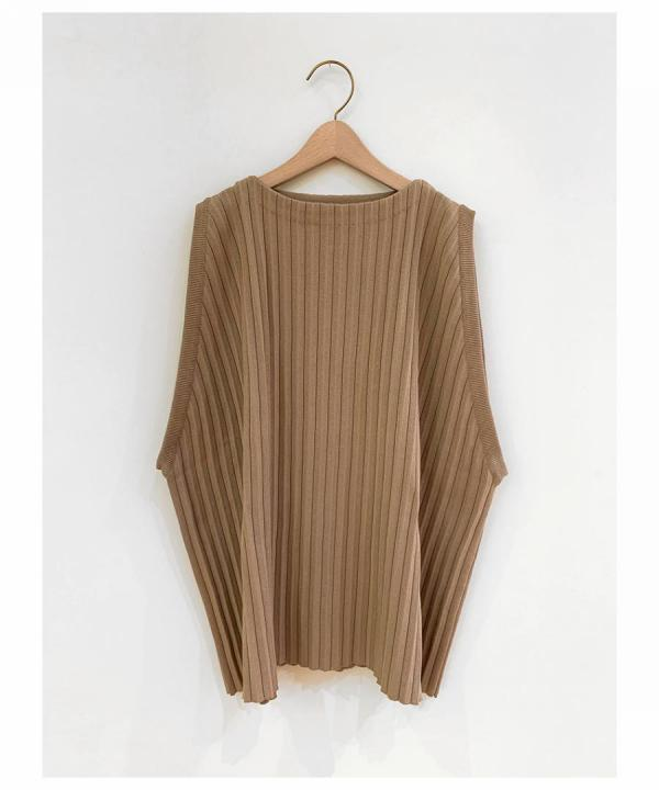 PLEATS KNIT VEST